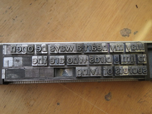 Adana Press, Composing Type