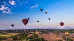 Balloons at Bagan, Myanmar