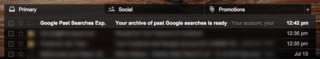 Download google search history - check email