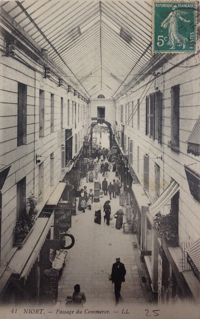 Passage du Commerce, Paris. c1912. Photographer unknown. Carte de Visite, front.