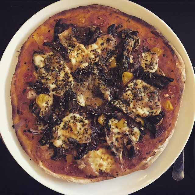 Post #womens100 homemade recovery pizza.