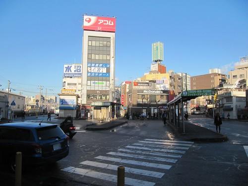 中山競馬場行きのバスが出る西船橋駅北口バスロータリー