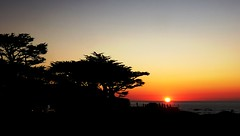 Watching the Sunset at Carmel-by-the-Sea, California