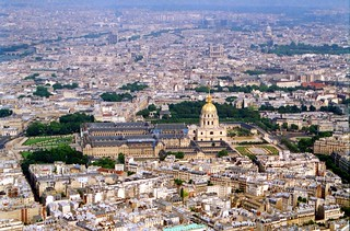 Les Invalides, Paris from the Eiffel Tower