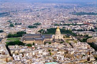 Image of Eiffel Tower near Paris 16. lesinvalides invalides paris napoleonstomb napoleon 1994 eiffeltower eiffel