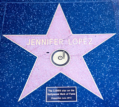 Jennifer Lopez's star on the Hollywood Walk of Fame.