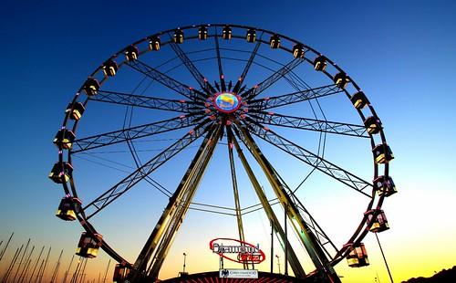 ruota wheel tramonto sunset porto harbour cielo sky everythingeverything
