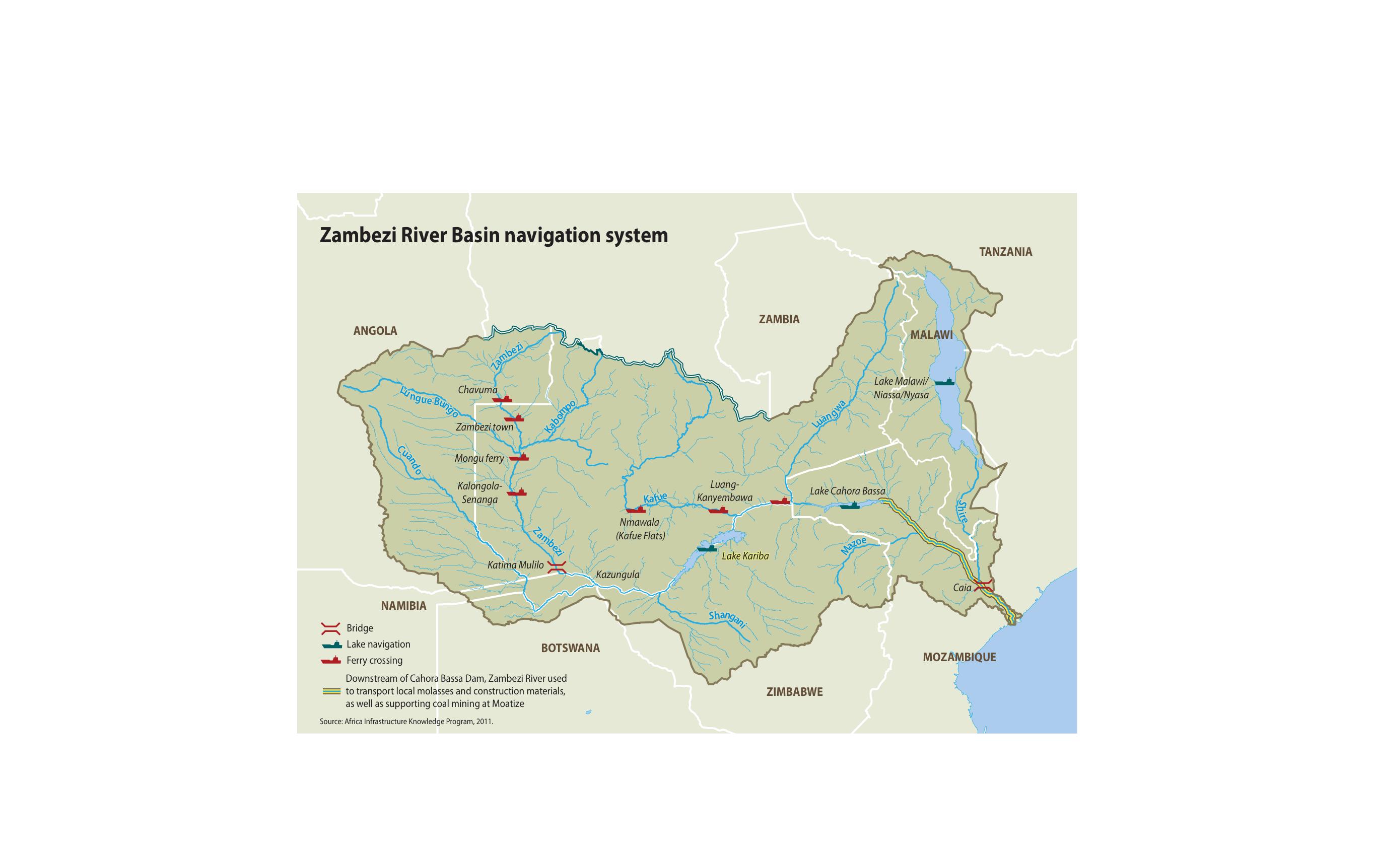 Zambezi River On Map Of Africa.Zambezi River Basin Navigation System Grid Arendal