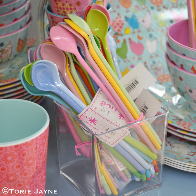 Colourful spoons from Pinks & Green