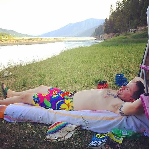 Horizontal camping!