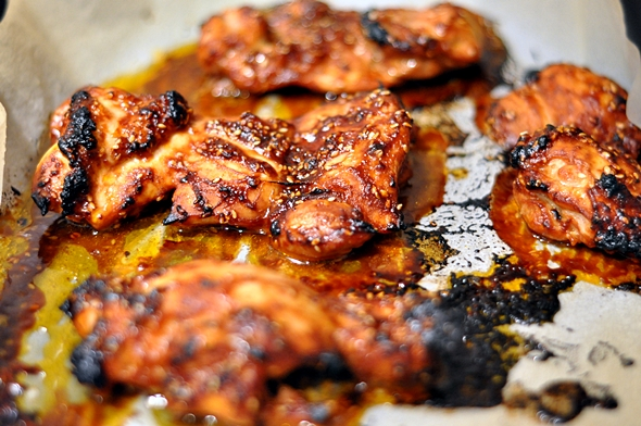 Tomato, Soy & Sesame Grilled Chicken | www.fussfreecooking.com
