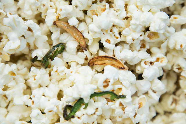 Jalapeño, truffle salt and garlic popcorn