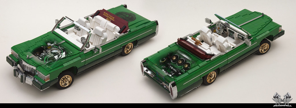 Lego 1/10 scaled Cadillac Fleetwood Lowrider ghostview