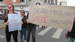 Servidores da Saúde no protesto