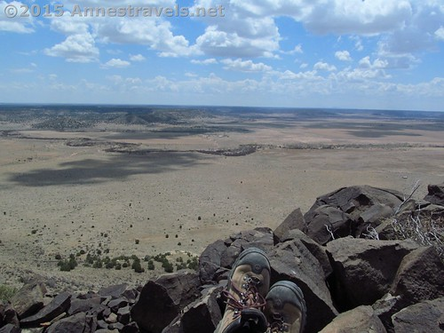 My hiking boots on their trial run: Black Mesa State Park, the highest point in Oklahoma
