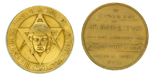 PAN-AMERICAN CONGRESS OF ARCHITECTS GRAND PRIX MEDAL