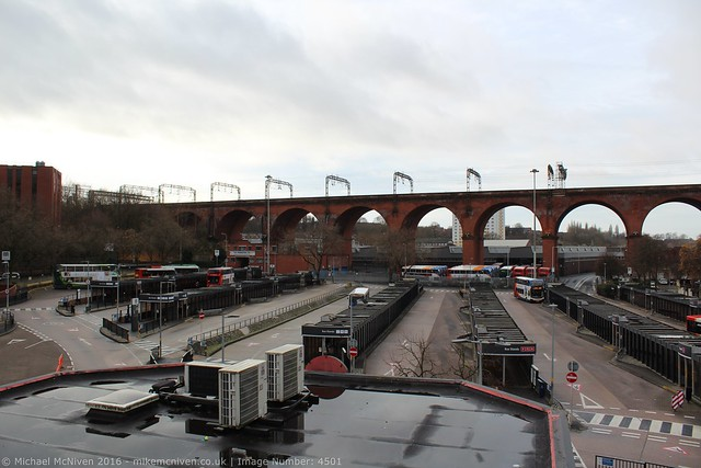 Stockport Bus Station and viaduct