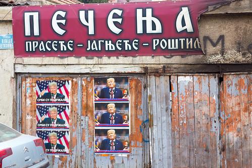 mitrovica kosovo kosovska косовска митровица donald trump supporter posters serbian