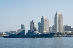 USS Sampson (DDG 102) returns to its San Diego homeport, June 1. (U.S. Navy/MC2 Zacharay Bell)