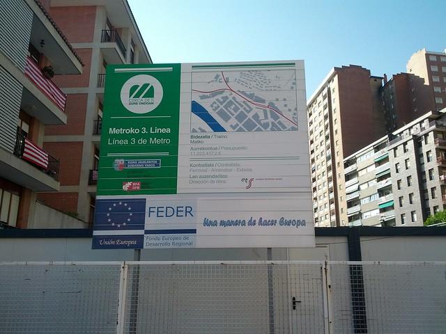 Future Metro Line 3 construction sign