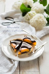 Apricot and cocolate tart