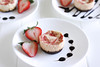 Strawberry Greek Yogurt Cheesecakes (GF)
