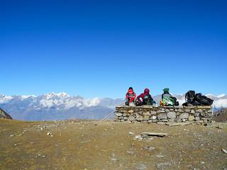 De Thorong Phedi (4450m) au Thorong La (5416m) puis redescente à Muktinath (3800m)