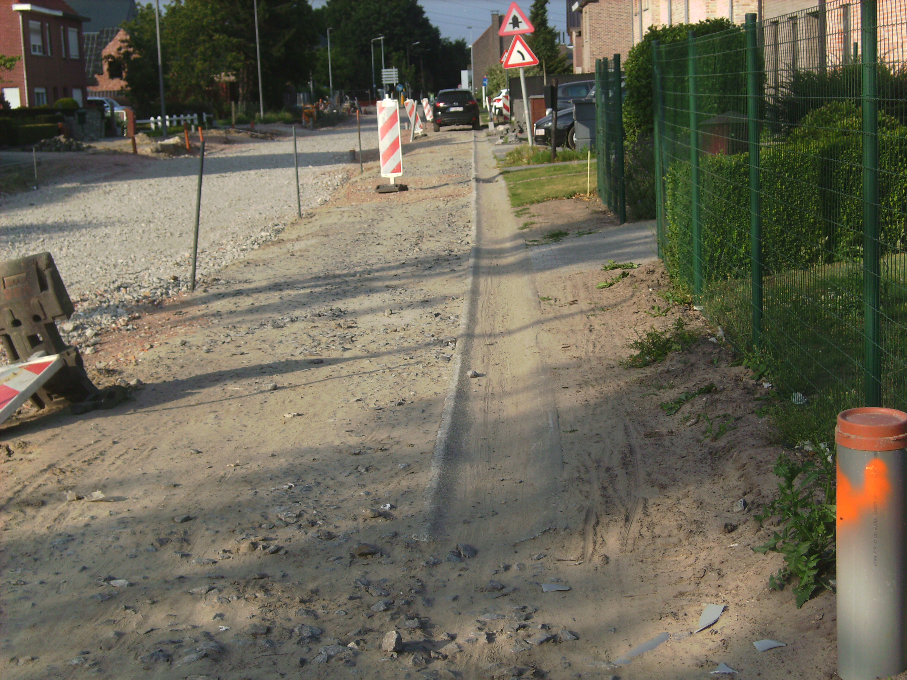kruis op de weg verboden te parkeren