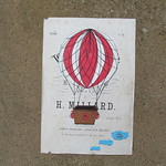 Hot air balloon paste-ups