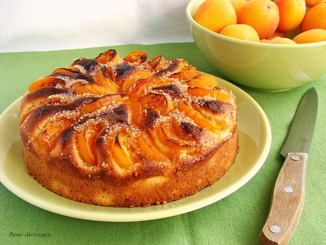 пирог с рикоттой и абрикосами 1