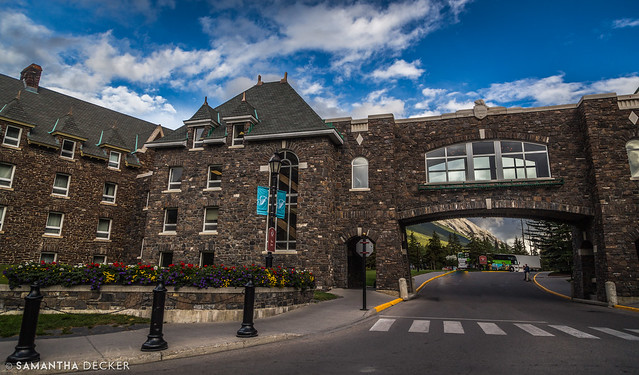Arriving at the Fairmont Banff Springs