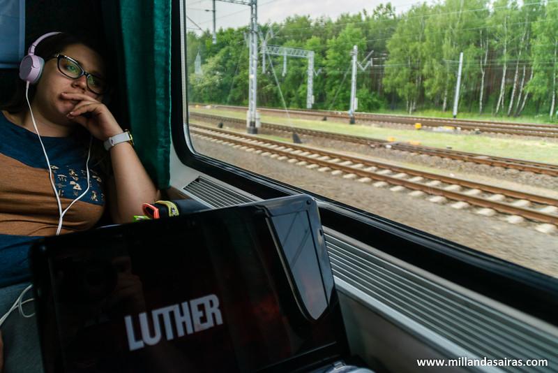 En tren hacia Varsovia