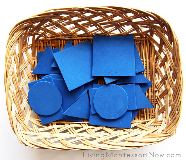 Basket with Foam Shapes