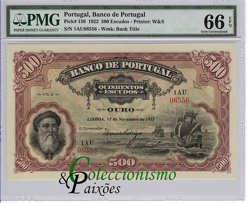 Reis counterfeit Portugal 500 Escudos note