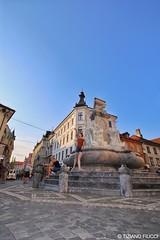 Dancer in the street. Lubiana. Slovenia 2015.