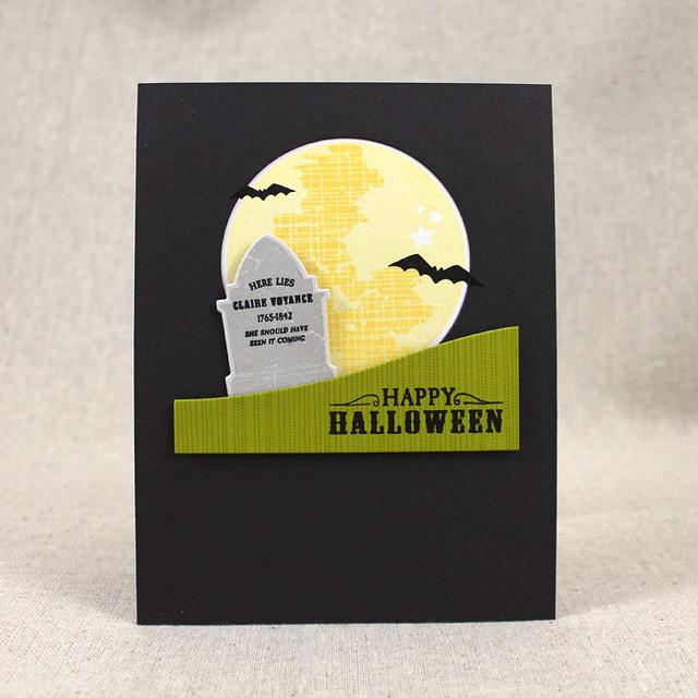 Claire Voyance Halloween Card