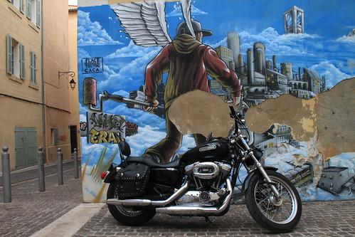 Harley Davidson graffiti