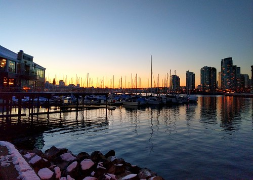 Winter sunset, False Creek