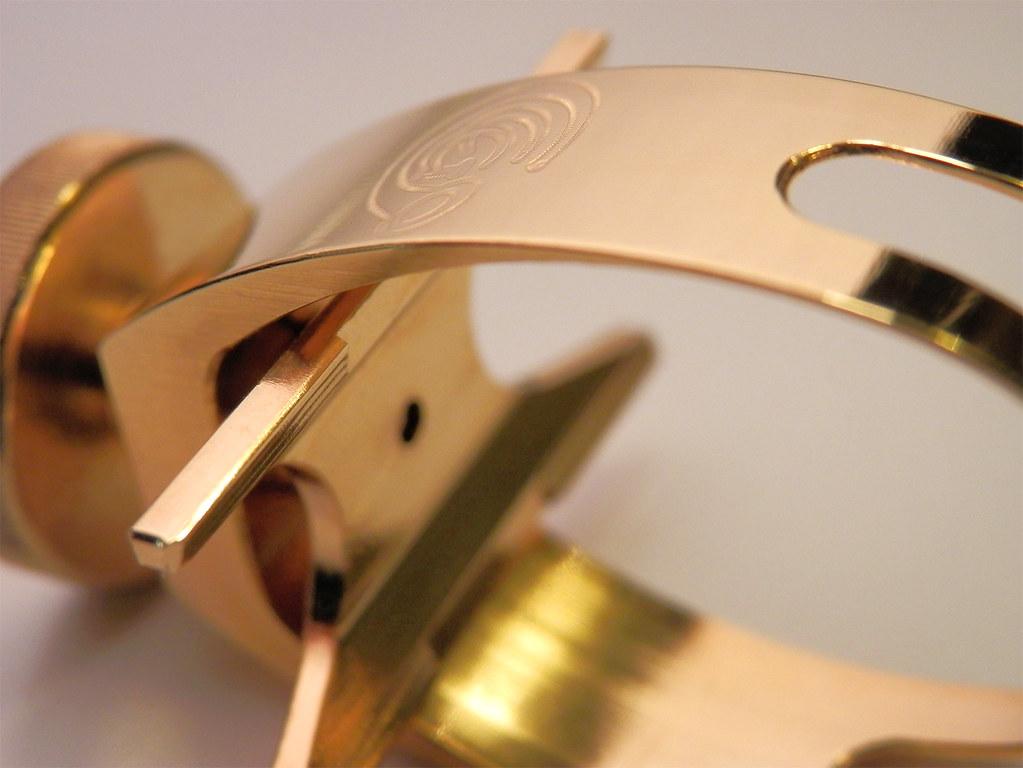 Galileo sax ligature II - 24Kt gold plated