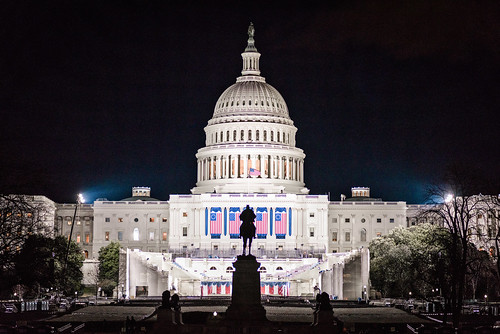 The U.S. Capitol Building Readied for the Trump Inauguration