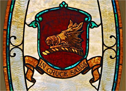 d60 stainedglass window hog boar hudson