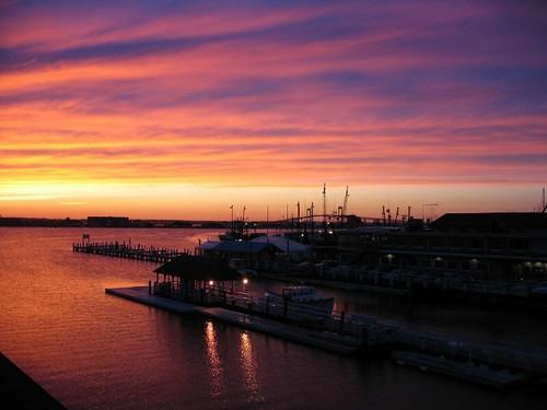 bridge sunset view harbour balcony rhodeisland newport