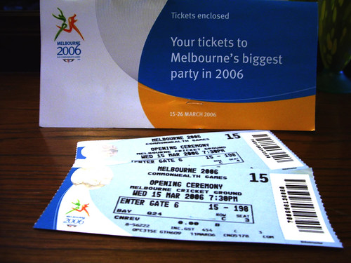 TICKETS FOR OPENING CEREMONY COMMONWEALTH GAMES