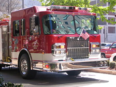 vehicle, truck, transport, fire department, emergency vehicle, land vehicle, fire apparatus, emergency service, motor vehicle,