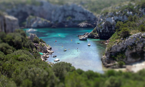 Tilt-Shift Fake - Menorca Cove