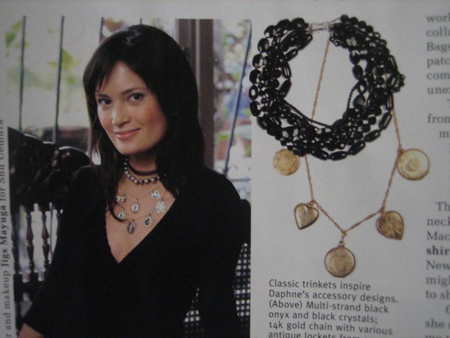 Daphne Necklaces as seen in Metro April 2006