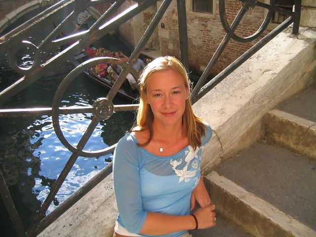 Angela Marie in Venezia, Italia. Photo Chelsa Hiatt August 13, 2004.