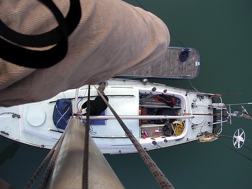 My Leg (and Yacht below)