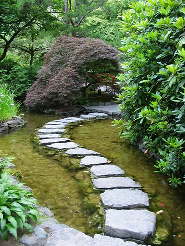 Stepping stones in japanese garden flickr photo sharing for Japanese garden stones