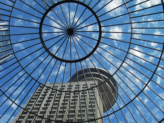 Vista de edificios en Harbour Centre. Vancouver. Canadá.